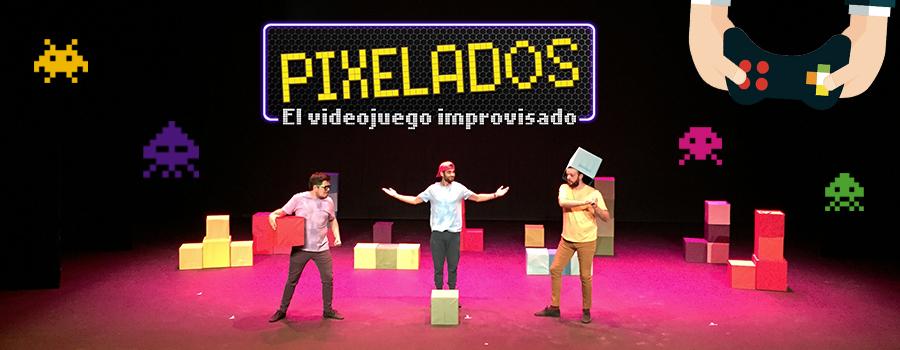 pixelados pixels espectaculos infantil familiar improvisacion videojuego