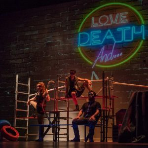 love death and teatro romea inicio espectaculo improvisacion improvivencia