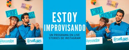 Cartel de estoy improvisando show de humor e improvisacion con Santi Avendaño e Irene Pardo