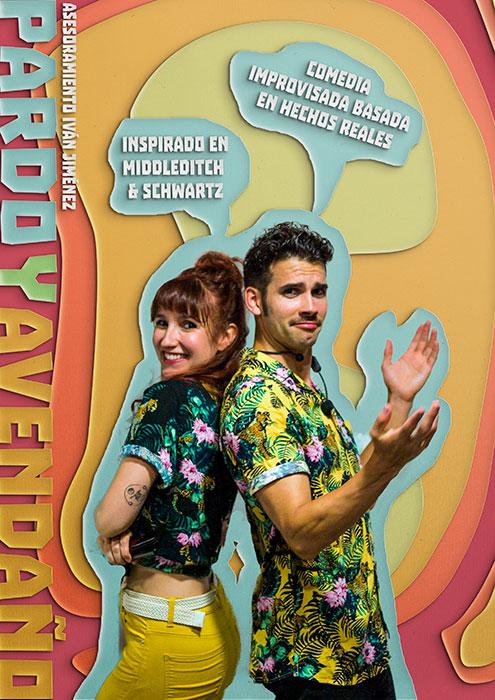 Cartel Pardo y Avendaño comedia improvisada improvivencia espectáculo improvisación Alicante